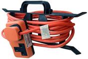 Zexum 6312 2G Hi-Visibility Trail Plug Extension Lead on H Frame, Orange, 1 m