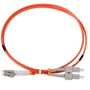 Cable Optical Fibre – Strap – PATCH CORD LC SC Multimode Duplex Orange 62/125 OM1 MT. 3