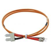 Cable Optical Fibre – Strap – PATCH CORD SC ST Multimode Duplex Orange 62/125 OM1 MT. 5