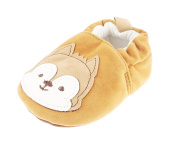 Baby Girls Boys Pram Padder Booties Shoes Brown Christmas Squirrel