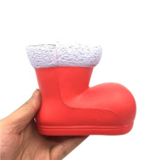 Squeeze Toy, ADESHOP 13cm Christmas Shoes Cream Scented Squishy Slow Rising Squeeze Toys Gifts