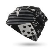 ManRiya Winter New Cashmere Cap Wild Collar Fashion Gift Holiday,BlackBars-L