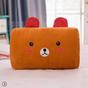 ZHUOTOP Cute Cartoon Animal Hand Hold Pillow Office Warm Plush Hand Cover Bear