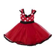 Dragon868 Toddler Kids Baby Girls Tutu Princess Dot Christmas Outfits Clothes Dress