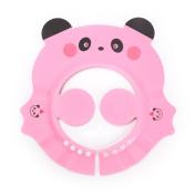 Children Baby Kids Waterproof Bathing Cap Panda Shampoo Cap Protect Hat Adjustable Baby Bath Shower Cap / Pink