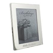 Juliana Silverplated Photo Frame 13cm x 18cm - 80th Birthday