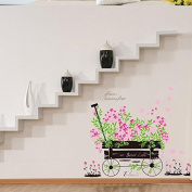 Sticker Wheelbarrow Flowers For Children's Bedrooms Babyphone guarderias Open Buy Receivers