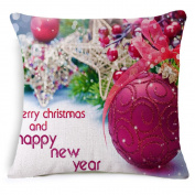 HJHET Christmas pillowcase European home Decoration sofa Cushion cover pillow (without core) 45*45cm, B