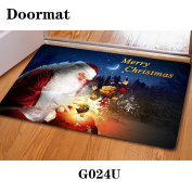 Christmas door dust mat rubber slip mat 40 * 60cm , g024u , 40*60cm