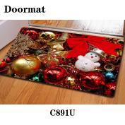 Christmas door dust mat rubber slip mat 40 * 60cm , c891u , 40*60cm