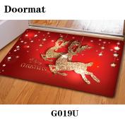 Christmas door dust mat rubber slip mat 40 * 60cm , g019u , 40*60cm