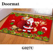 Christmas door dust mat rubber slip mat 40 * 60cm , g027u , 40*60cm