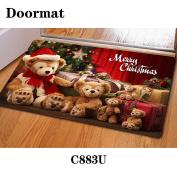 Christmas door dust mat rubber slip mat 40 * 60cm , c883u , 40*60cm