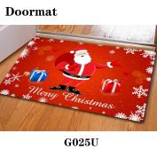 Christmas door dust mat rubber slip mat 40 * 60cm , g025u , 40*60cm