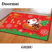 Christmas door dust mat rubber slip mat 40 * 60cm , g026u , 40*60cm