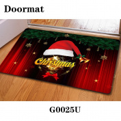 Christmas door dust mat rubber slip mat 40 * 60cm , g0025u , 40*60cm