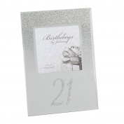 Birthdays by Juliana - Glitter Mirror Frame 10cm x 10cm - 21st