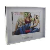 Juliana Shiny Silverplated Photo Frame 'Friends' 18cm x 13cm