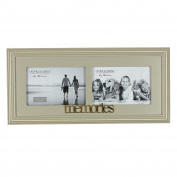 Juliana Wooden Double Photo Frame 15cm x 10cm - Memories