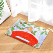 Bovake Christmas Home Non Slip Door Floor Mats Hall Rugs Kitchen Bathroom Carpet Decor