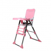 WANG Children 's Chairs Baby Portable Folding Multi - Functional 64 * 44 * 96cm,Pink