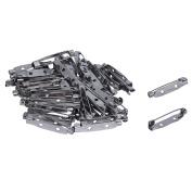 Metal Brooch - TOOGOO(R) 50 PCS Jewellery Noble Metal Brooch 31 x 5 mm