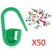 MORESAVE 50PCS Mix Colour Knitting Crochet Locking Stitch Needle Clip Markers