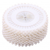 Lalang 480 x Round Faux Pearl Head Pins for Dressmaking Sewing Craft Wedding Decoration White