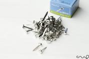Academy(TM) 100 x Paper Fasteners Split Pins Binding High Quality Steel Silver VAT