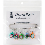 Paradise Exotic Shawl Pin Turtles Stitch Markers-Sizes 0 To 10
