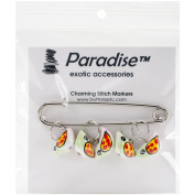Paradise Exotic Shawl Pin Birdie Stitch Markers-Sizes 0 To 10
