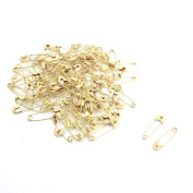 1.8cm x 0.5cm Gold Tone Metal Fastening Tool Safety Pins 100pcs
