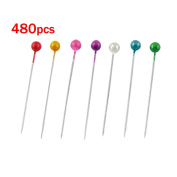 Sonline 480 Pcs Assorted Colour 37mm Length Ball Head Straight Pins Decorations