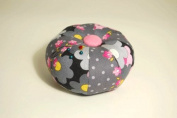 Grey & Pink fabric Pin Cushion- 591PC