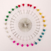Wheels of 30 Pearl Pins in 4 Shapes Dress Making Hat Brooch Buttonhole Hijab