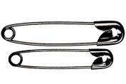 Whitecroft 53022 | Black Plated Mild Steel Safety Pins | 19mm | 1440 Pins