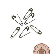 live-wire-direct 500 Small Tiny Metal Mini Safety Pins 2cm 20mm Black