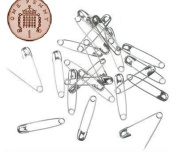 live-wire-direct 500 Small Silver Metal Safety Pins 2cm 20mm