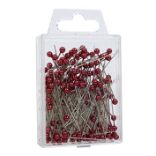 FloristryWarehouse Pearl Headed 4cm Florists Pins x 144 Red