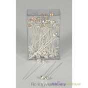 FloristryWarehouse Diamante Diamonte Diamond Pins 4mm Iridescent