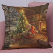 Merry Christmas Cushion Cover, Indexp Sofa Home Decoration Throw Pillow Case