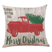 Christmas Tree Cushion Cover, Indexp Sofa Home Decoration Throw Pillow Case