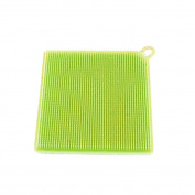 Silicone Dishwashing Brush, Indexp Soft Mildew-Free Antibacterial Sponge Scrubber Kitchen Cleaning Tool