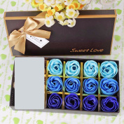 Valentine's Day gifts, wedding gifts, 12 soaps, roses, birthday gifts, Christmas gifts, Halloween gifts,Blue gradient