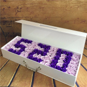 Creative birthday gifts, imitation flower soap, 99 roses bouquet, Christmas to send his girlfriend,Violet