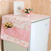 Qearly Super Cute Polyester Kitchen Storage Organiser Fridge Dust Cover pink