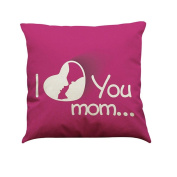 Indexp I Love You Mom Printing Festival Throw Cushion Cover Sofa Home Decoration Pillow case