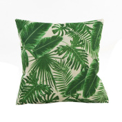 Indexp Natural Flower Grass Leaves Pattern Printing Throw Cushion Cover Sofa Home Decoration Pillow case
