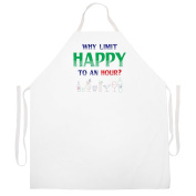 """Why Limit Happy"" Apron-Natural"