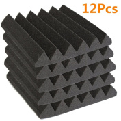 MAGIC SHOW 12 Pack Foam Acoustic Wedge Studio Sound Absorption Wall Panels 5.1cm x 30cm x 30cm TO300